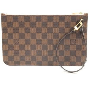 Neverfull Pochette XL Damier Ébène Canvas Clutch